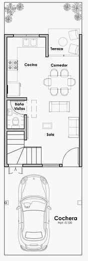 Distribución Acacia 1er piso sin cotas.