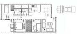 Distribución 2 habitaciones