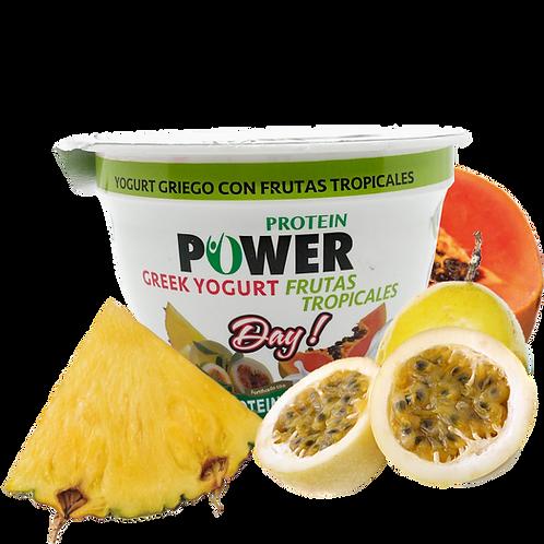 Yogurt Griego con Frutas Tropicales