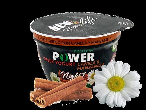 Yogurt griego con manzanilla canela