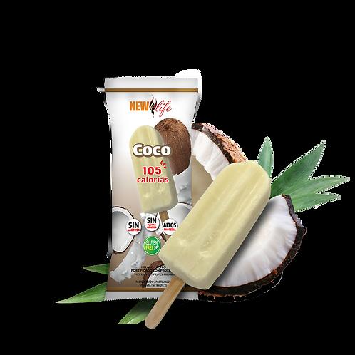 Helado lácteo con proteína sabor coco