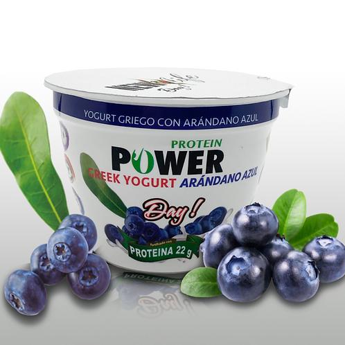 Yogurt griego con arándanos azules