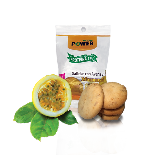 Galletas con proteína sabor maracuyá