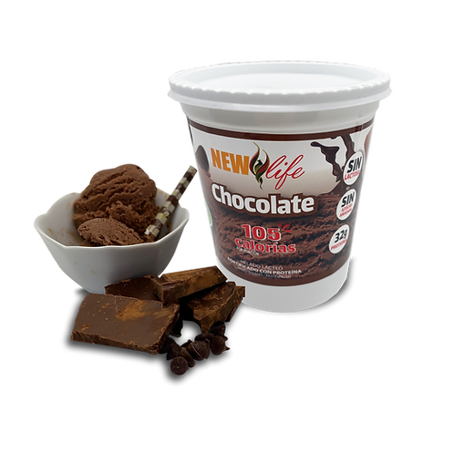 Helado lácteo con proteína sabor chocolate
