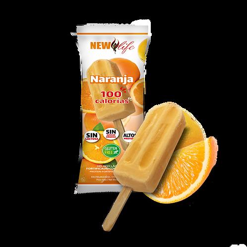 Helado lácteo con proteína sabor naranja