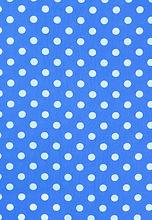 Blue Polka Dot Print