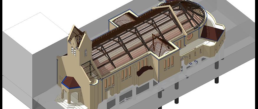 L'église Notre Dame des Otages (Paris 20e) Examen du clocher et inspection générale de l'édifice - Association diocésaine de Paris