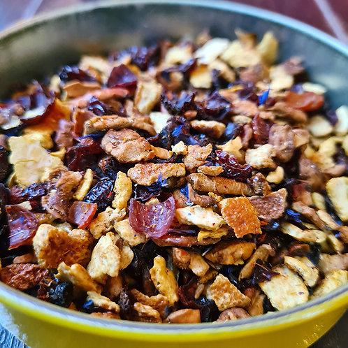 Infusion Bora Bora   Ananas, pomme, écorce d'orange, églantier, mangue, goyave