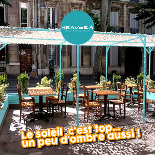 ☀ De l'ombre sur la nouvelle terrasse du Teavora !!!
