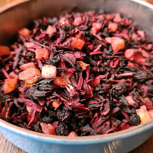 Infusion Kir Royal, Papaye, Hibiscus, Raisins de Corinthe, Cassis, Rose...