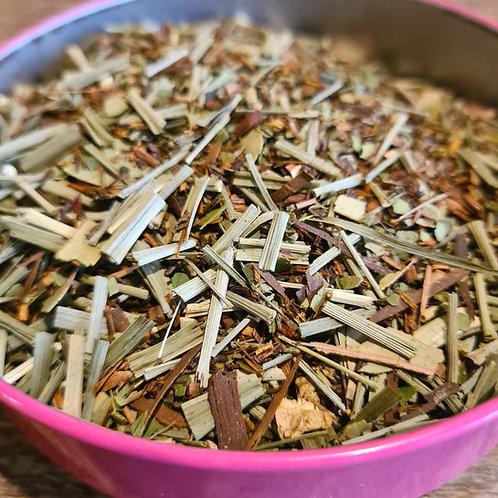 Infusion Honeymoon   Honeybush, maté vert, citronnelle, eucalyptus, passion...