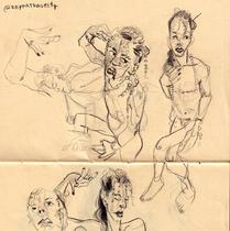 """Ava"" Marcela Müller | Lápis de cor sobre papel (21x30cm)"