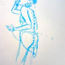Sofia Martins | Lápis de cor e nanquim sobre papel