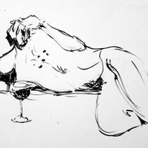 Vitor Fugita | Caneta pincel de nanquim preto sobre papel Canson (A4)