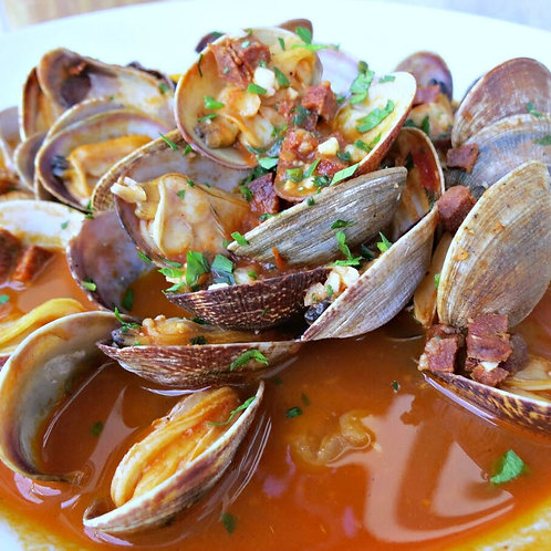 Steamed Manilla Clams Appetizer (GF)