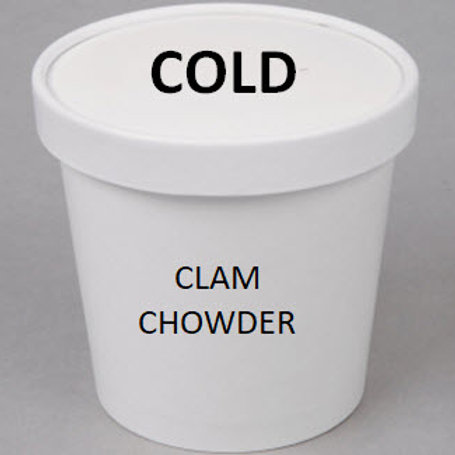 Chilled Clam Chowder (Red or White), Quart to-go