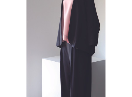 A&S Woven robe short & Tuck front easy pants