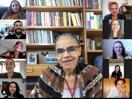 Estudantes da Academia Amazônia Ensina encontram com Marina Silva em Webinário