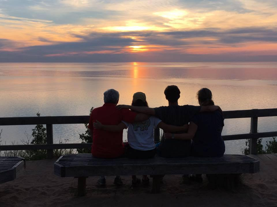 McGee family photo at sunset