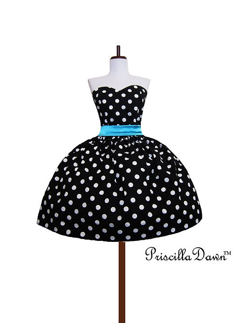 Black with white Dots Dress