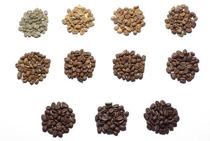 Coffee bean roast levels