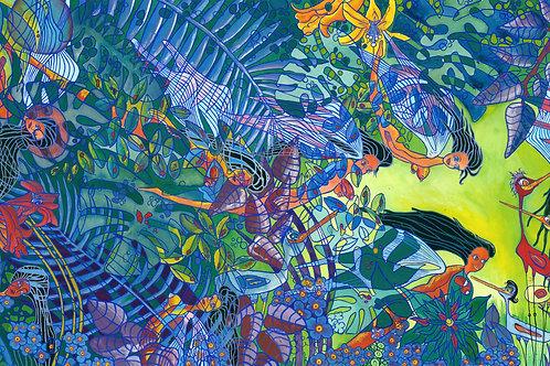 """Giclee Print - Fairies 22"""" x 48"""""""