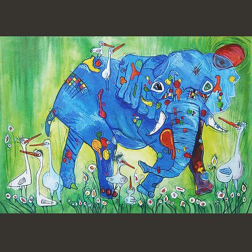 "Giclee Print - Baby Elephant 8"" x 11"""