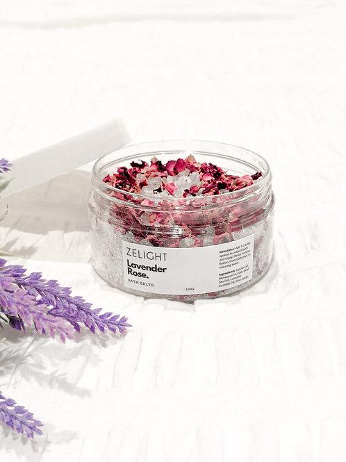 Lavender Rose Bath Salts
