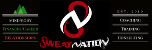 Sweat Nation, Mind/Body, Finances/Career, Relationships, coaching