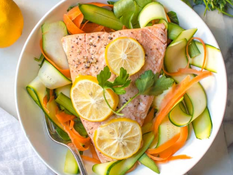 Lemon Garlic Salmon (Instant-Pot, AIP)