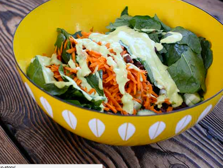 Salad With Orange Avocado Dressing