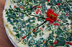 Spinach & Red Pepper Frittata