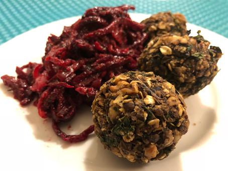 Lentil Mushroom Sphere's