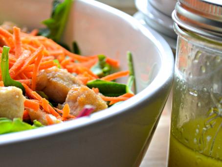 Crispy Ginger Chicken Salad