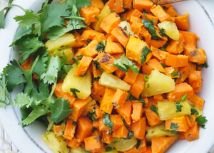 Spicy Roasted Sweet Potato & Pineapple Salad, AIP