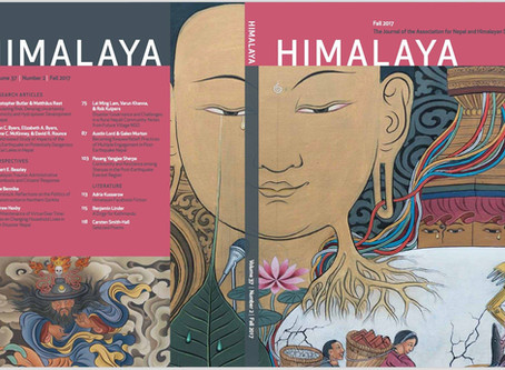 """New Edition of ANHS Journal """"Himalaya"""" Reflects on 2015 Nepal Earthquakes"""