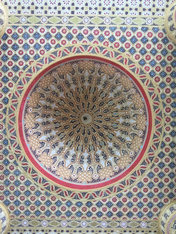 Mosaic ceiling, Great Mosque of Touba, Senegal
