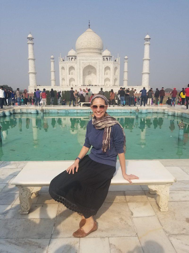 Robin Kietlinski at the Taj Mahal