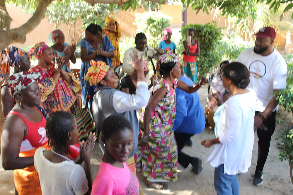 traditional West African communal dancing