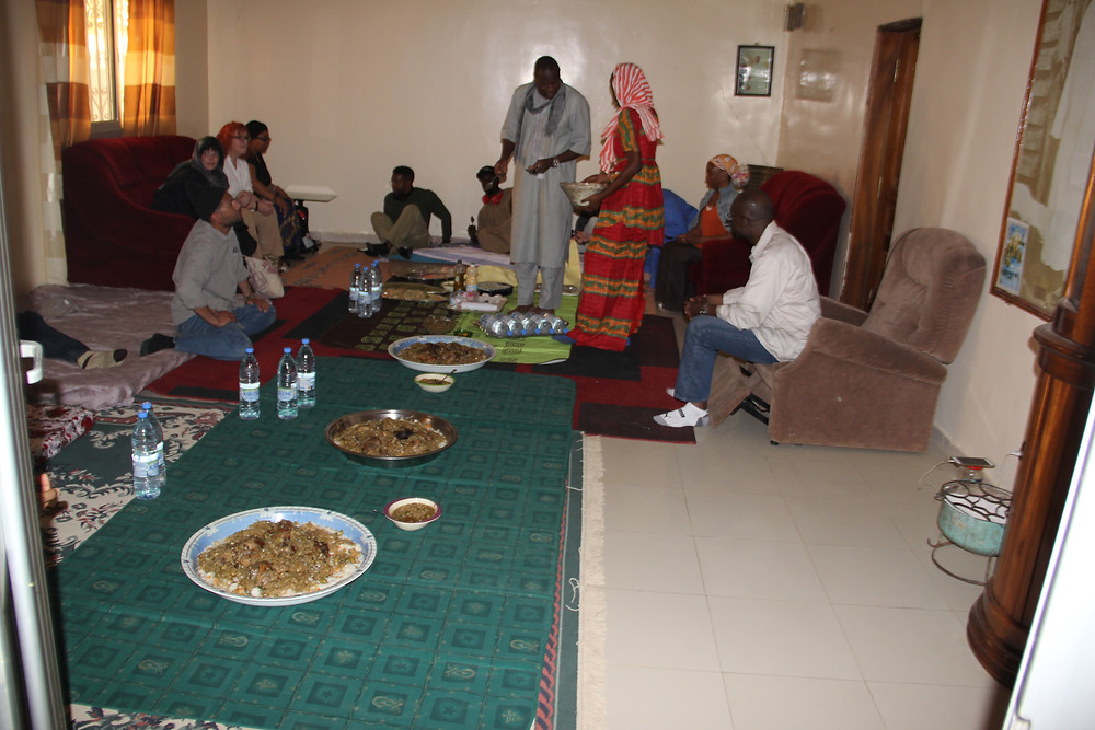 preparations for a communal meal
