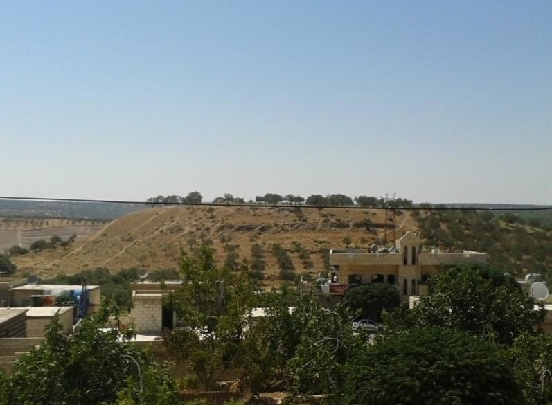 The hilly region in southern Idlib where the ancient burial cave was discovered.