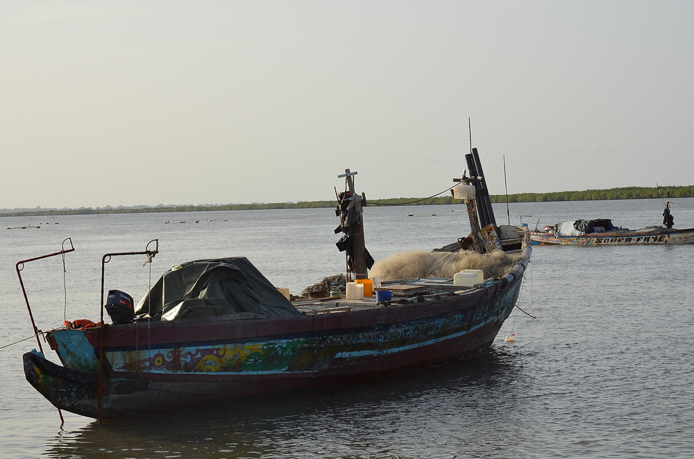 Karen Barton CAORC fellow Senegal pirogue