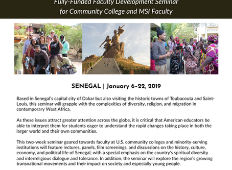 Diversity, Religion, and Migration in West Africa: Community College & MSI Faculty Development S