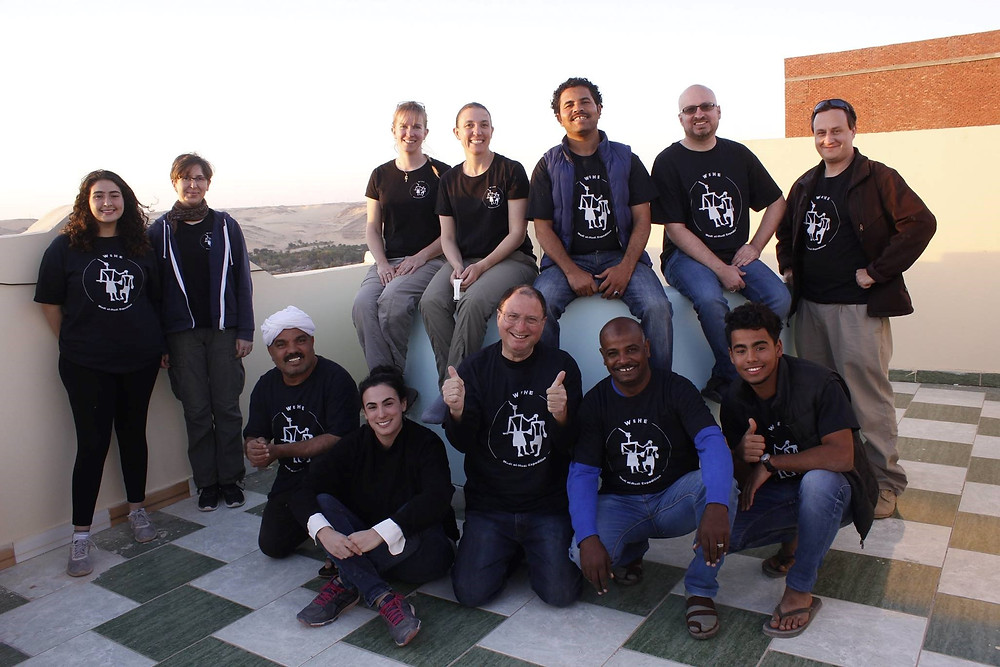 Wadi el-Hudi Expedition 2018 team photo
