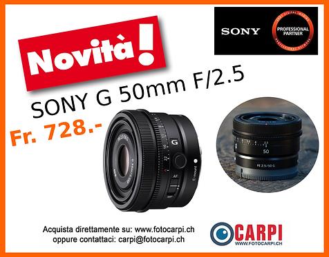 Sony G 50mm F/2.5