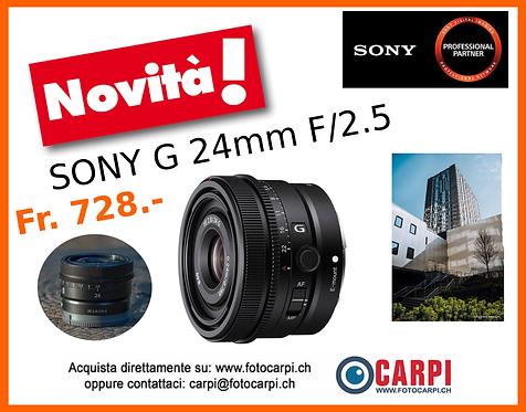 Sony G 24mm F/2.5