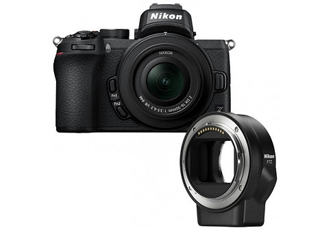 Nikon Z50 + 16-50mm + FTZ