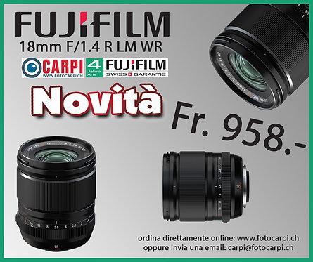 Fujinon 18mm F/1.4 R LM WR