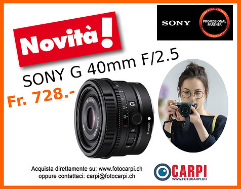 Sony G 40mm F/2.5