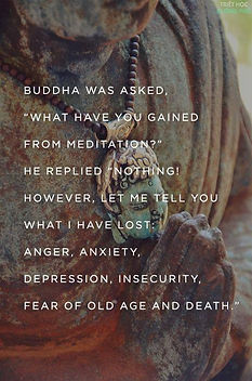 buddha not what I get from meditation bu